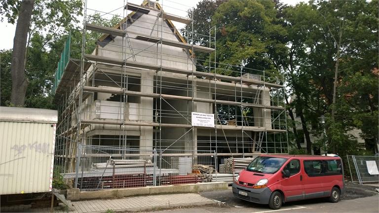 Einfamilienhaus in Stahlbeton- Skelettbauweise